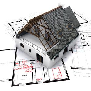 House plan with corrections