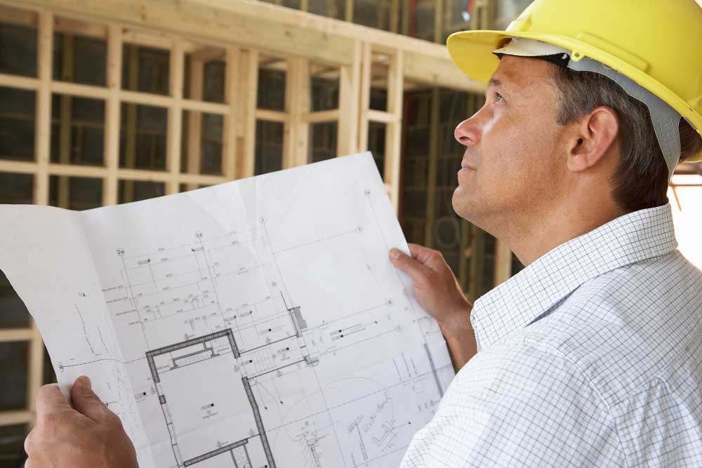 Builder with plans