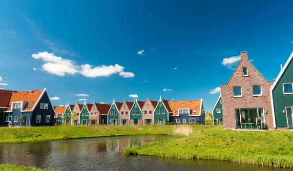 Row of classic houses